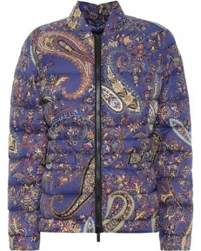 Фиолетовая пуховая дутая куртка Etro