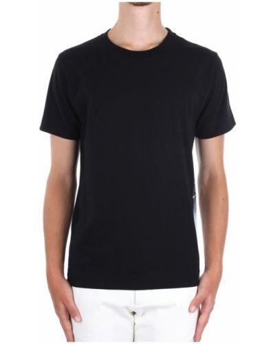 Czarna t-shirt krótki rękaw Duno