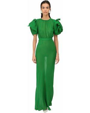 Платье макси на пуговицах с отложным воротником Alessandra Rich