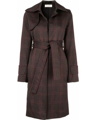 Пальто классическое в клетку с воротником Nina Ricci