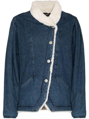 Джинсовая куртка из овчины - синяя Isabel Marant