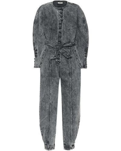 Niebieski kombinezon jeansowy bawełniany Ulla Johnson