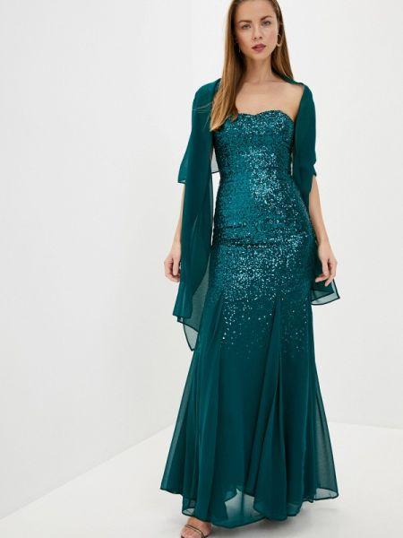 Вечернее платье весеннее бирюзовый Goddiva
