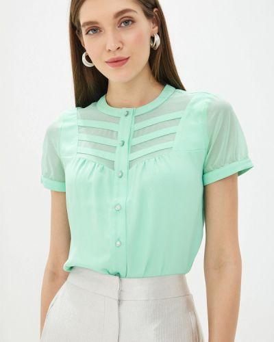 Блузка с коротким рукавом зеленый весенний Yuna Style