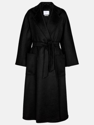 Кашемировое черное пальто Max Mara