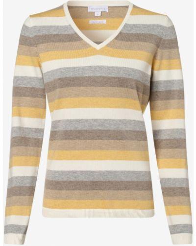 Beżowy sweter w paski bawełniany Brookshire