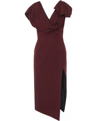 Платье миди из вискозы фиолетовый Maticevski