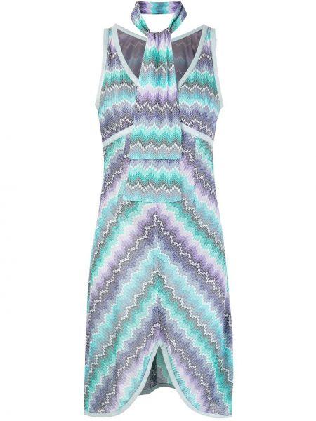 Платье винтажное с рисунком на молнии Missoni Pre-owned