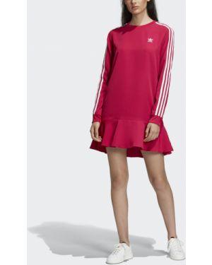 Платье розовое футболка Adidas