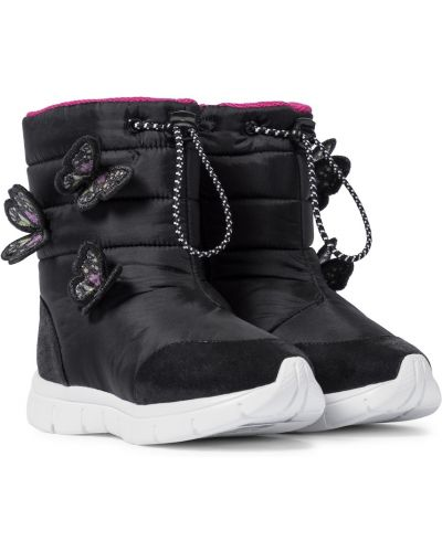 Текстильные черные ботинки с глиттером Sophia Webster Mini