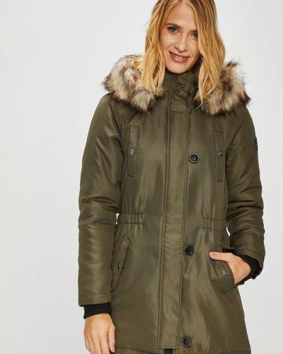 Утепленная куртка с капюшоном на резинке Only