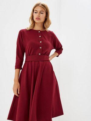 Платье бордовый платье-рубашка Po Pogode