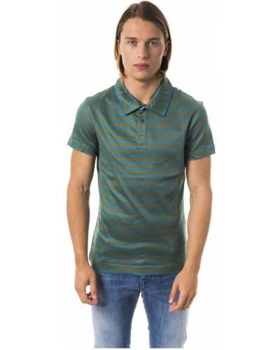 T-shirt w paski z haftem krótki rękaw Byblos