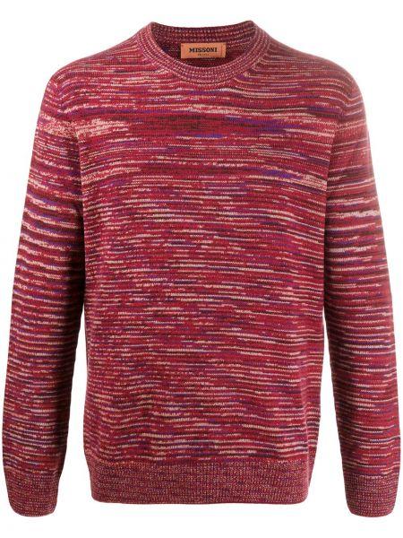 Kaszmir pulower z paskami z długimi rękawami z mankietami Missoni