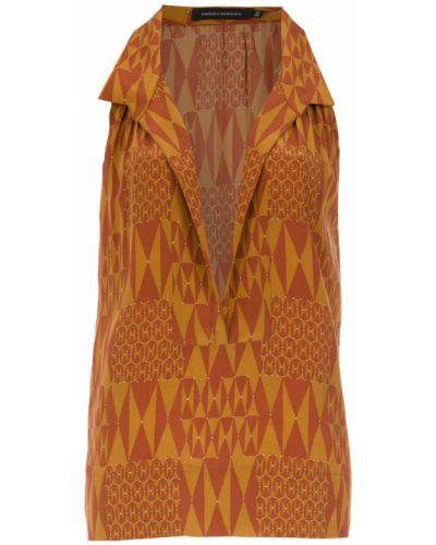 Блузка без рукавов классическая прямая Andrea Marques