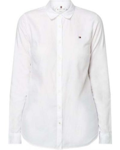 Bawełna biały bluzka z kołnierzem z mankietami Tommy Hilfiger