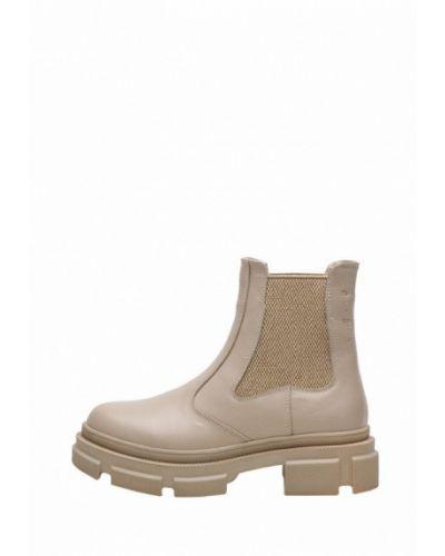 Кожаные ботинки челси - бежевые Broni