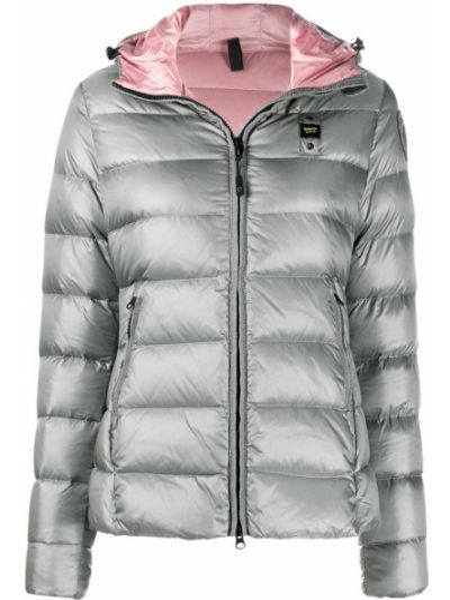 Классическая серебряная куртка с капюшоном с карманами с перьями Blauer