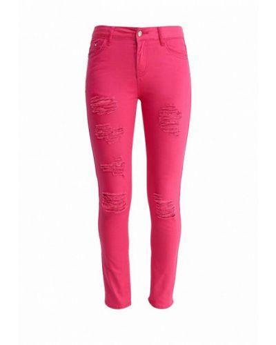 Розовые брюки зауженные Miss Momo
