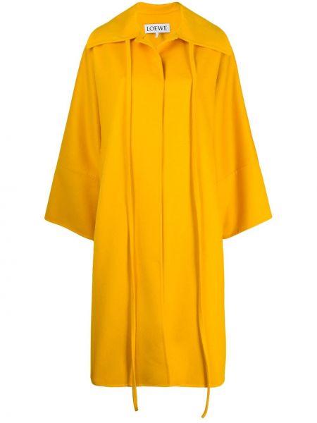 Кашемировое пальто оверсайз с капюшоном Loewe