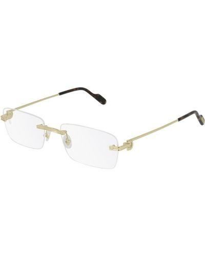 Białe okulary Cartier