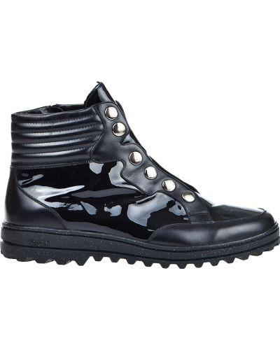Кожаные ботинки осенние лаковые Pakerson