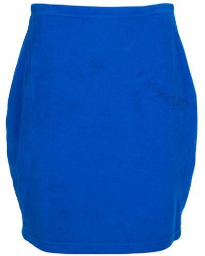 Джинсовая юбка винтажная синяя Versace Vintage