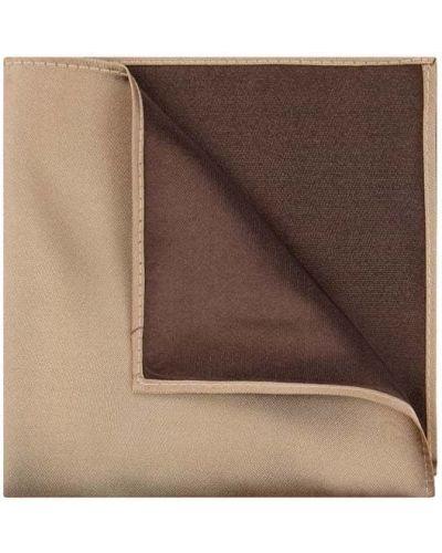 Jedwab brązowy chusteczka Monti