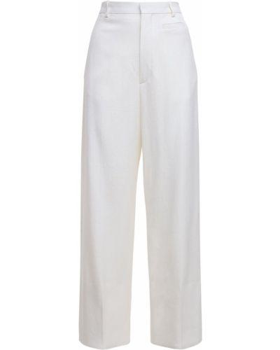 Wełniany przycięte spodnie z kieszeniami bezpłatne cięcie wysoki wzrost Jacquemus