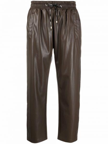 Коричневые брюки с логотипом Pinko