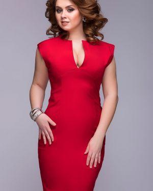 Вечернее платье миди - красное 1001 Dress