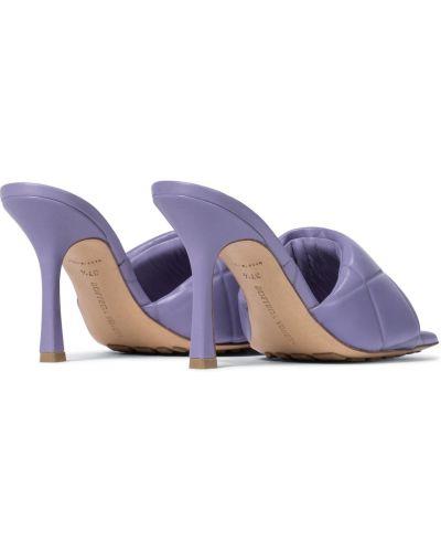 Фиолетовые кожаные сандалии Bottega Veneta