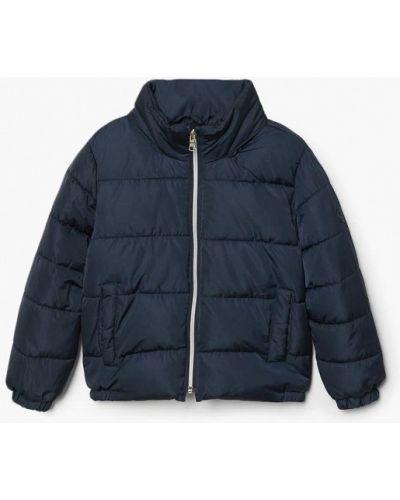Синяя куртка теплая Mango Kids