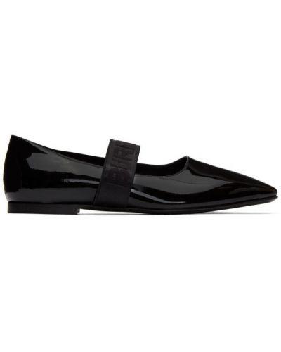 Балетки черные с вышивкой Burberry