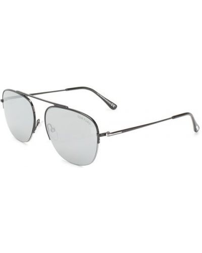 Очки авиаторы черные солнцезащитные Tom Ford