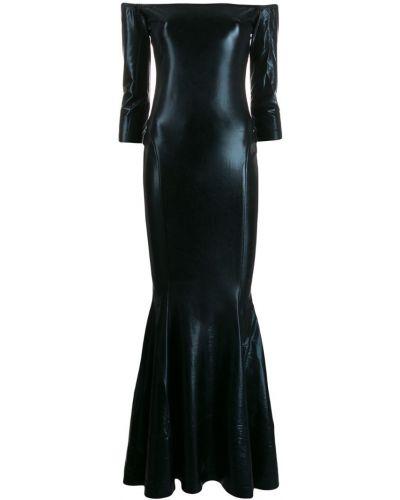 Платье макси через плечо прямое Norma Kamali