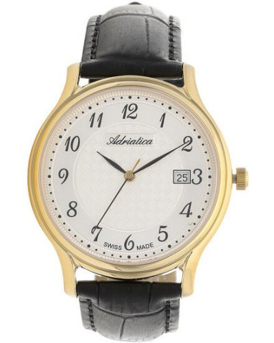 Czarny zegarek Adriatica