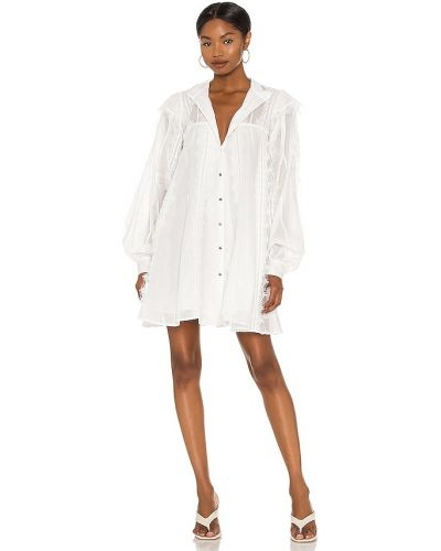 Повседневное кружевное белое платье One Teaspoon