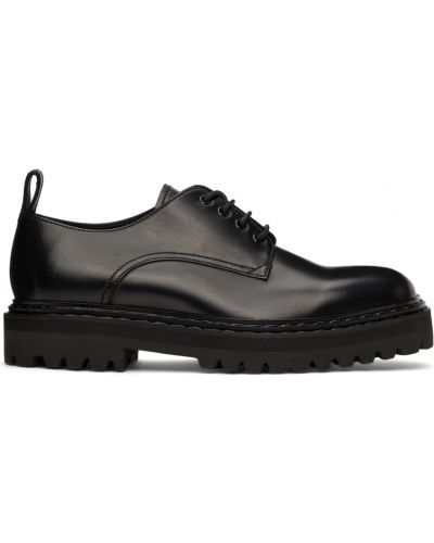 Черные туфли с круглым носом Officine Creative