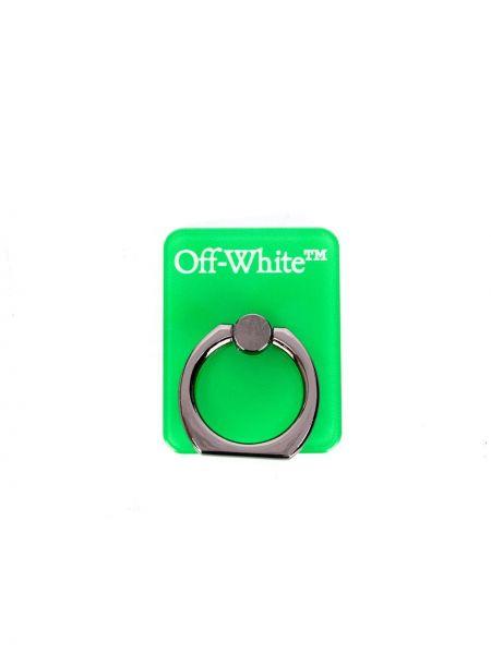 Rama biały pierścień z logo dla telefonów Off-white