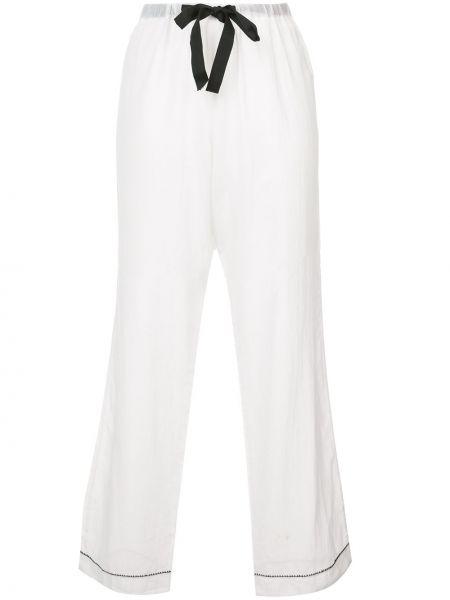 Брюки пижамные белые Morgan Lane