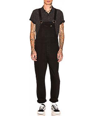 Черный комбинезон с карманами на пуговицах Rolla's