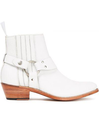 Ботильоны на каблуке - белые Grenson