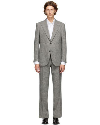 Брючный белый брючный костюм для полных Husbands