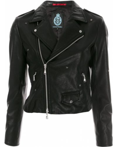 Кожаная куртка длинная - черная Guild Prime