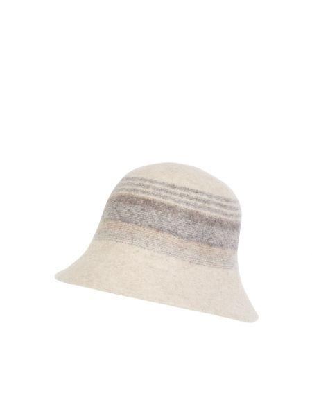 Beżowy czapka beanie wełniany Loevenich