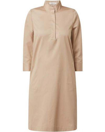 Beżowa sukienka mini rozkloszowana bawełniana Christian Berg Women