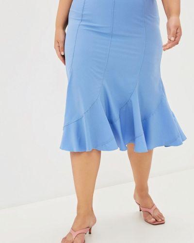 Голубая весенняя юбка Prewoman
