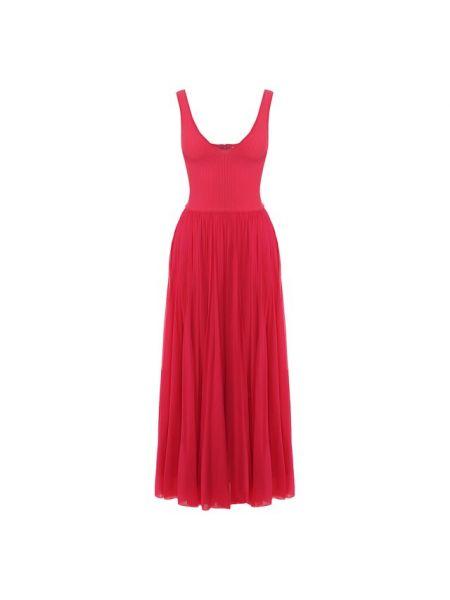 Платье с декольте шелковое Alexander Mcqueen