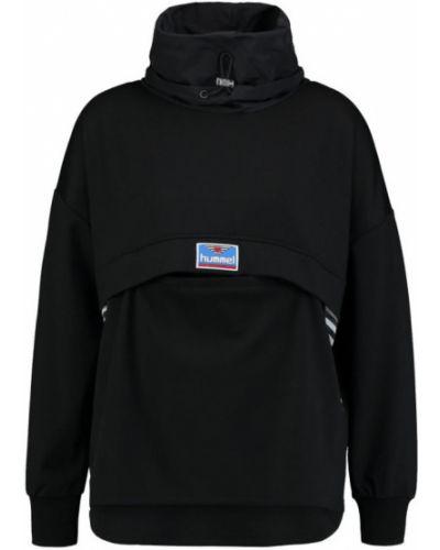 Czarna bluza oversize materiałowa Hummel